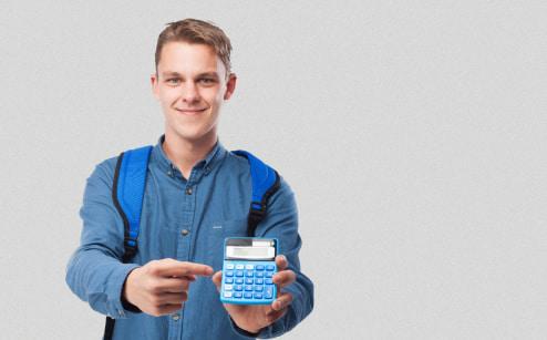 студент с калькулятором